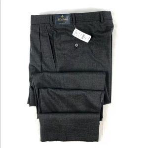 Brooks Brothers Brooksease Gray 37x36 Wool NWT